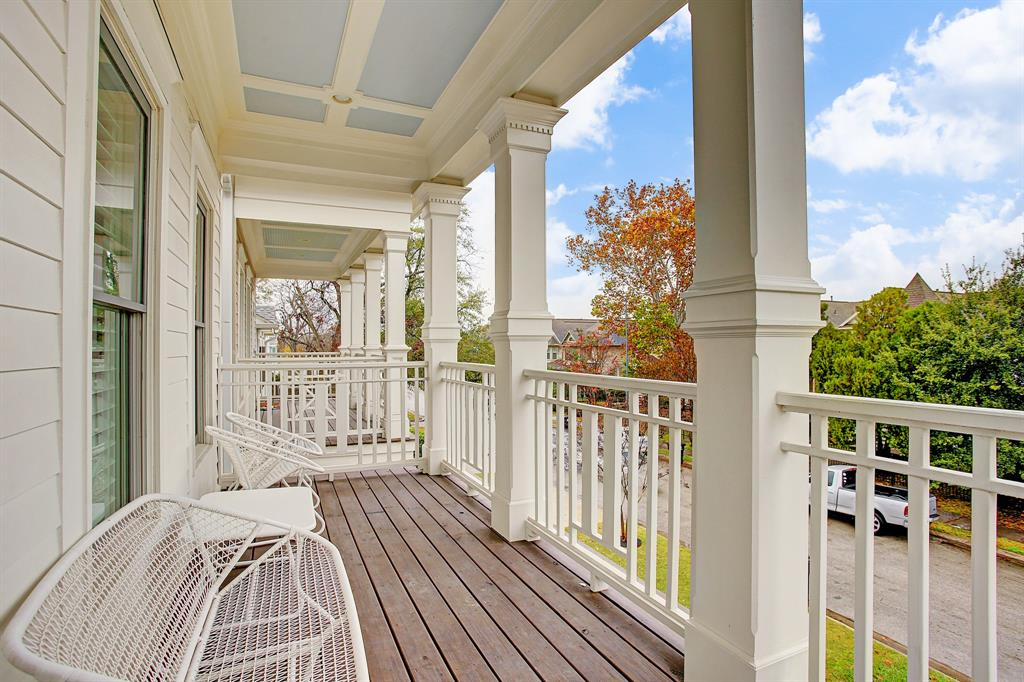 The front balcony offers a private perch on quiet mornings or evenings.