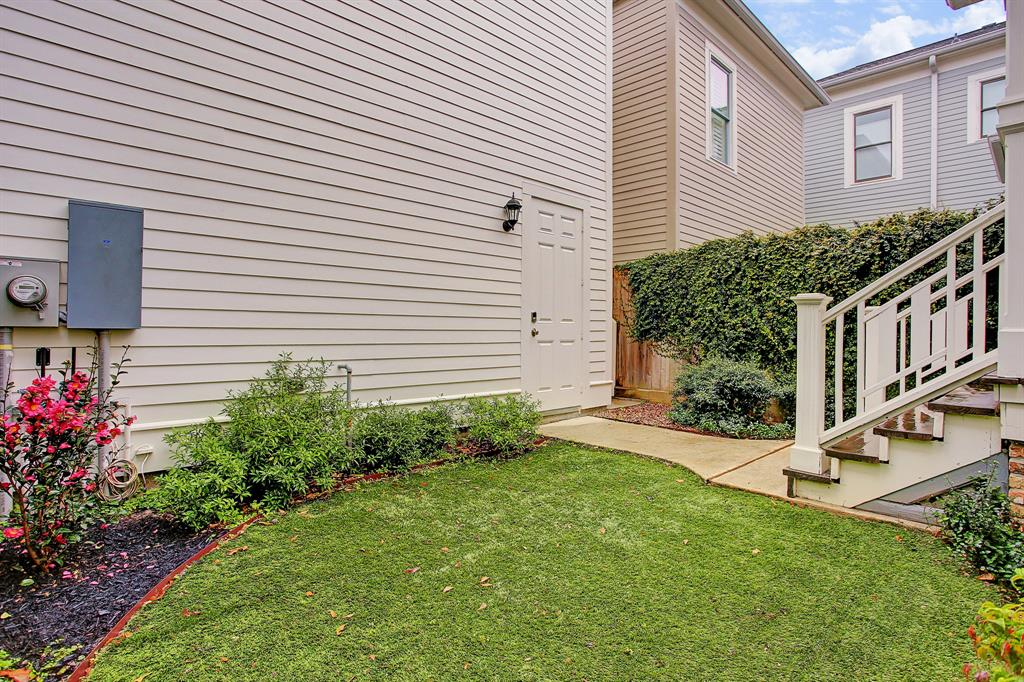 A perfect, quiet little green space is the final touch of this home located so close to all the Heights has to offer!