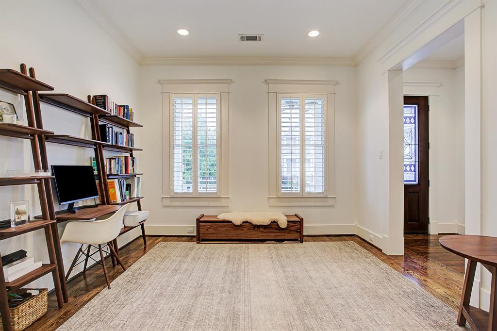 Looking toward the front door, with a better view of the formal entry hall.