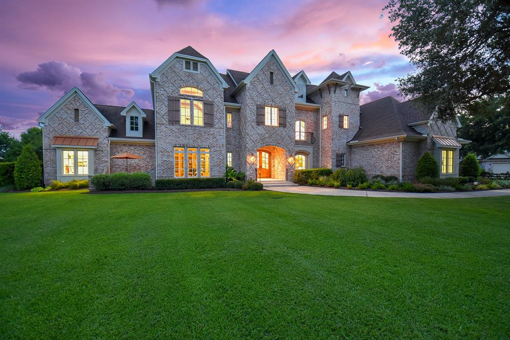 1.79 Acre estate in the prestigious custom community of Fulbrook.  This magnificent home with a waterfront setting features 4 Bedrooms, 4 Full baths, formal living and secondary living open to custom kitchen, Pella windows, two stairwells, family room, gym or gameroom, huge study, fire pit, and an award winning current pool and spa.Irrigation is connected to a separate well on the property.  So many features you need to see!  Low 1.88 Tax rate before homestead.  A MUST SEE!