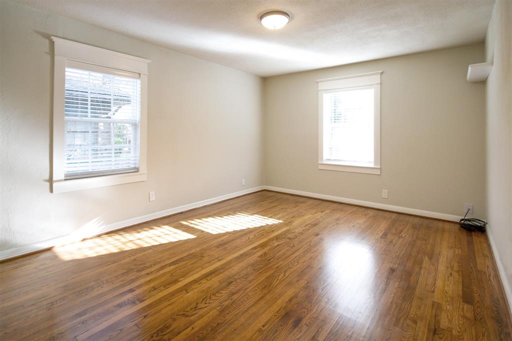 Large second bedroom with ample closet space