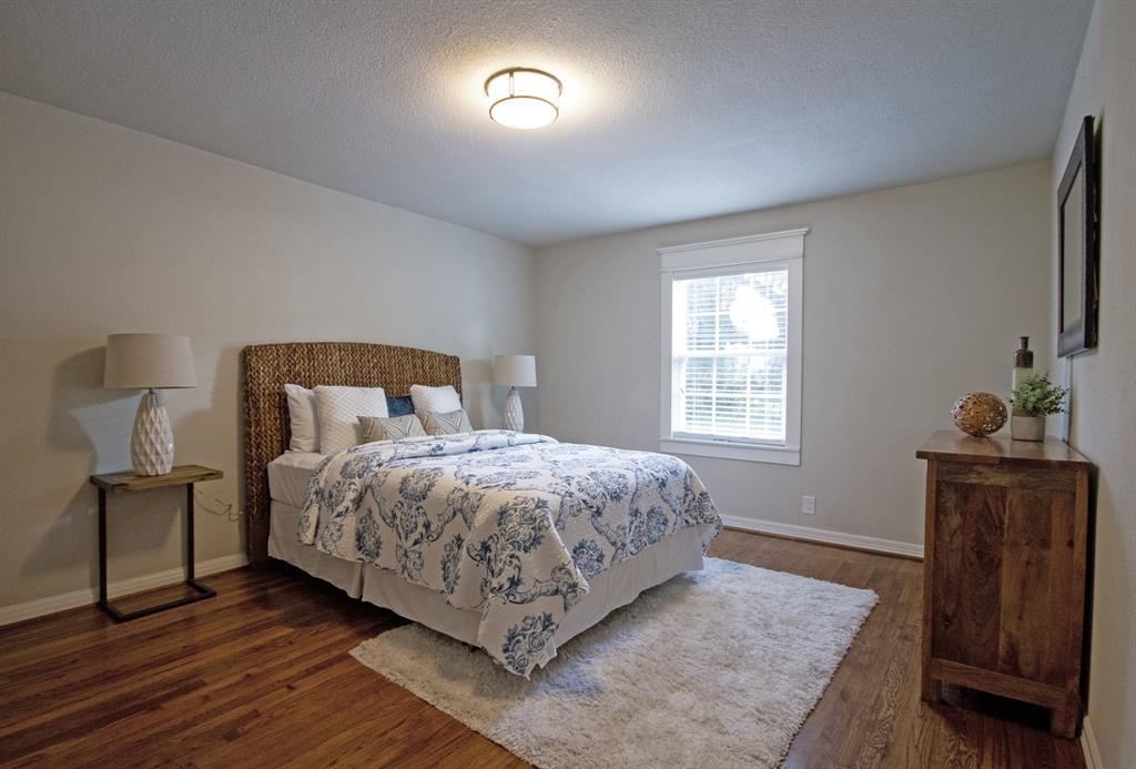Sun-drenched Master bedroom features walk-in closet and en suite