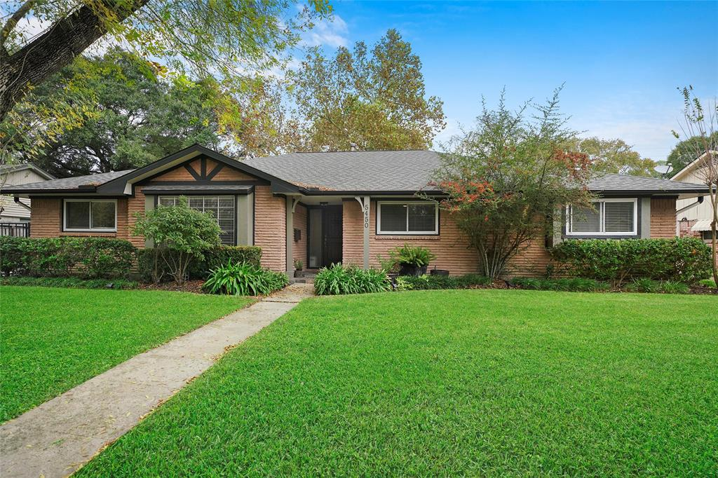 Remodeled bungalow on a popular Meyerland street. Well kept yard and trees surrounding the property.