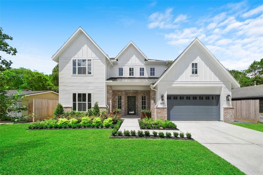 Located in BOOMING Ridgecrest on a large 7,995 sq.ft. lot this beautiful new construction home by Quintessa includes a full siding exterior w/brick wainscoting & a custom 8ft Metal front door & rear sliding metal doors. Offers 3/4 BR's, 3.5 BAs, a 1st floor Guest Suite/Study, a 1st floor Master, rare 3-Car Tandem Garage & a 2nd floor Game Room, Media Room & Seasonal Storage Closet. Features high-end finishes throughout including recessed lighting, high ceilings, high-end counter tops, Kent Moore custom cabinetry & wood flooring. Chefs kitchen will feature a large island with designer pendant lighting, spacious walk in pantry, under cabinet lighting & a high-end appliance package! Home also offers speaker pre-wire, alarm pre-wire, a full front & back sprinkler system, a lush landscaping package, French drain system & much more! Ridgecrest is the 'NEXT' neighborhood in Spring Branch!! Check out our map showing of all the new development, get in now while prices are still affordable!!!!