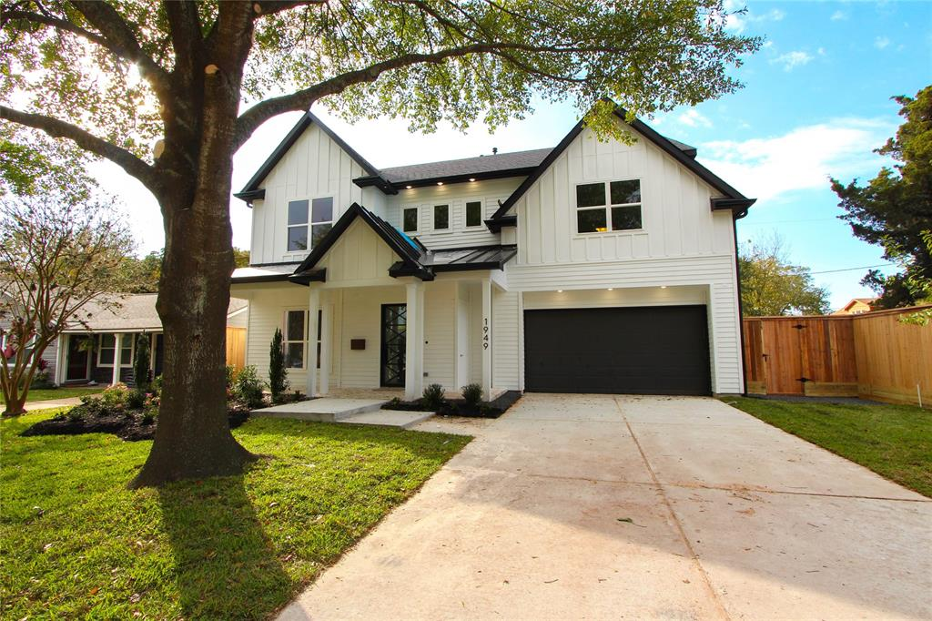 Located in BOOMING Ridgecrest on a large 7,995 sq.ft. lot this NEW construction home by Quintessa includes a full siding exterior w/brick wainscoting, a metal roof detail, a custom metal front door & an Amazon closet located on front porch. Will offer 4 BRs, 4.5 BAs, 1st floor Study/4th BR, Master & a 2nd floor Game Room, Media Room & Seasonal Storage Closet. Home features high-end finishes throughout; recessed lighting, high ceilings, high-end countertops, Kent Moore cabinetry & wood flooring. Chefs kitchen w/large island, designer pendant lighting, spacious walk in pantry, under cabinet lighting & a high-end appliance package! Also offers Wi-Fi Mesh ready, home audio, Media room prewire, & alarm prewire, a full front sprinkler system, lush landscaping package, French drain system & much more! Ridgecrest is the 'NEXT' neighborhood in Spring Branch!! Check out our map showing of all the new development, get in now while prices are still affordable!
