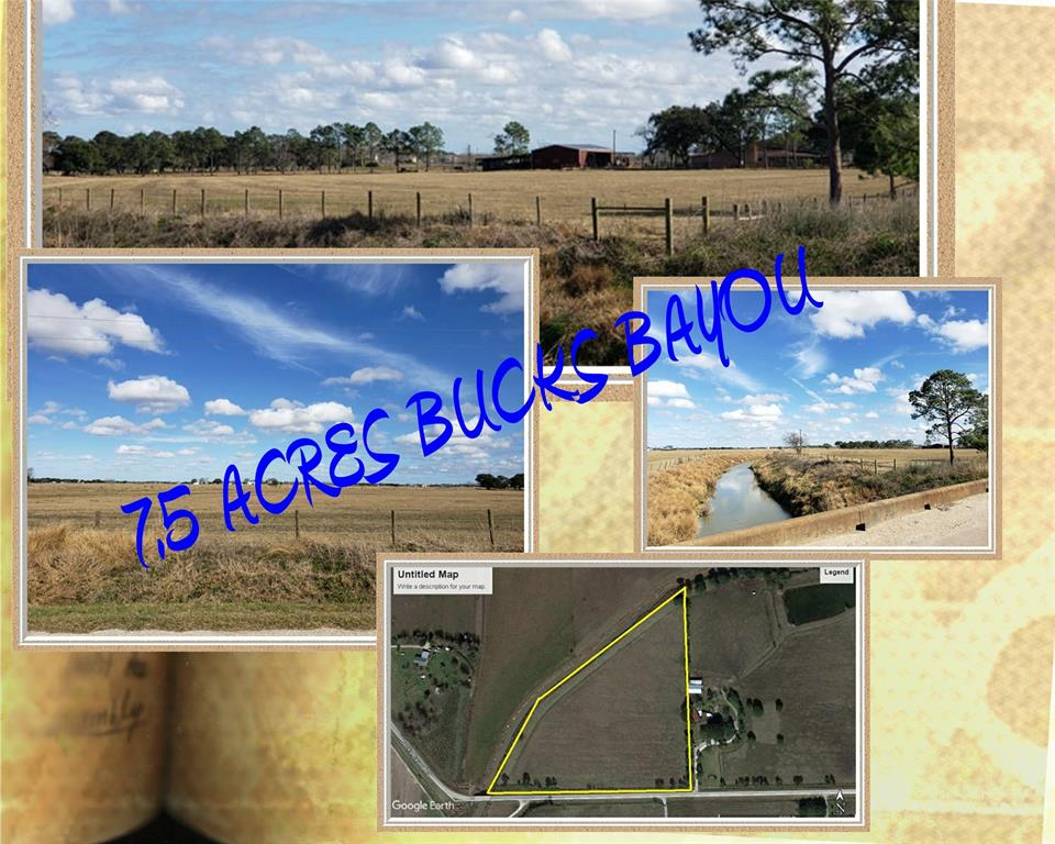 PRISTINE & BEAUTIFUL LAND READY FOR A HOME TO BE BUILT. FULL IMPROVED LAND W/ ELECTRIC IN RD. PAVED BUCKS BAYOU ROAD & NEW CULVERT ENTRANCE WITH GATE. NEW FENCING, IMPROVED PASTURE W/ TEXAS TOUGH GRASS PLANTED. PROPERTY HAS EXCELLENT DRAINAGE AND BORDERS BUCKS BAYOU. NICE HOMES & EXCELLENT NEIGHBORS AROUND PROPERTY. CURRENTLY AG EXCEMPT! 12.38 ACRES COMPLETE ALSO IF YOU DONT WANT THE 8 . MOBILE HOME WILL BE ALLOWED!