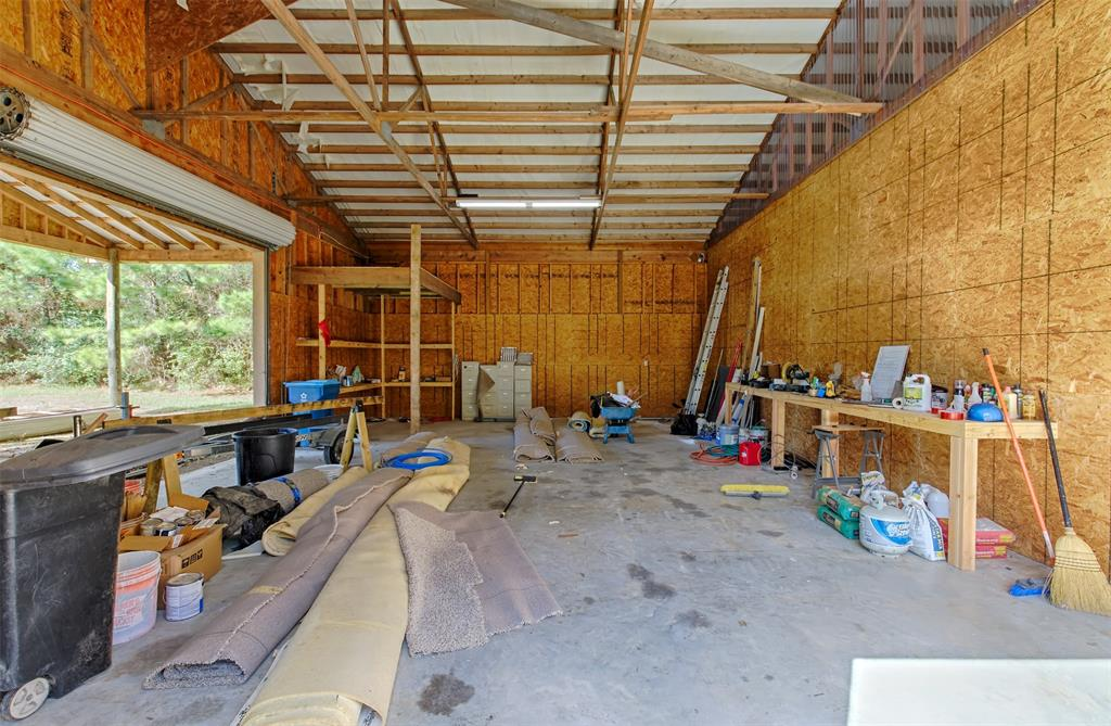 The carport end storage room shown here.