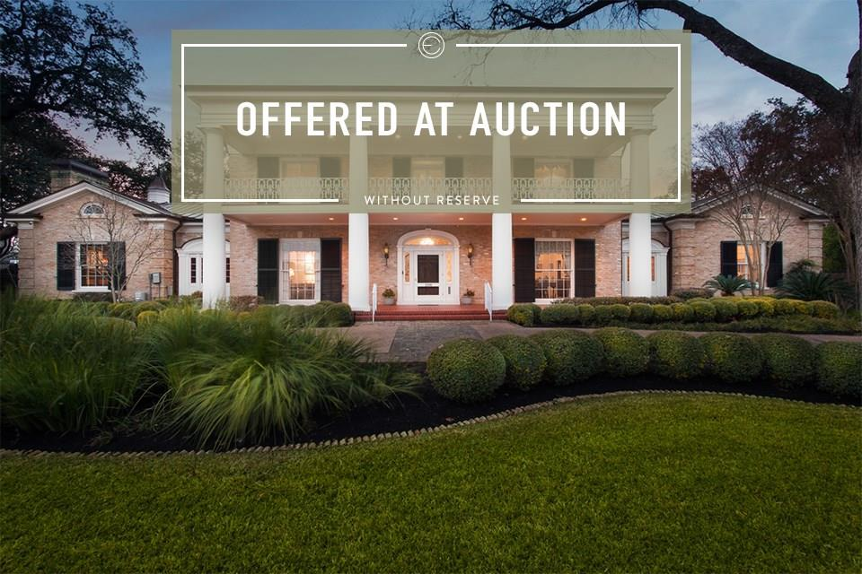 No Reserve Auction to be held on-site, Saturday, July 18, 2020, at 11:00 AM.  Starting, Saturday, June 27, 2020, previews every Saturday & Sunday 1:00 PM-4:00 PM, Private appointments available, Call for details.   The Long Estate stands as a proud pillar on one of Austin's most iconic and prominent streets in Old Enfield shrouded by towering oak trees on a double lot. Majestic and timeless, it has been a long-time host to world famous musicians, artists, politicians, and one of the finest private art collections in the world. Designed and built in 1940 by architect Louis C. Page with no expense spared and only sold once in its history. Trained eyes will recognize the detailed craftsmanship and imported materials throughout that offer timeless elegance and grandeur including Baccarat chandeliers and sconces, hand milled cabinetry and stair rail, commissioned metal work, and original crown molding with museum quality picture rails throughout.