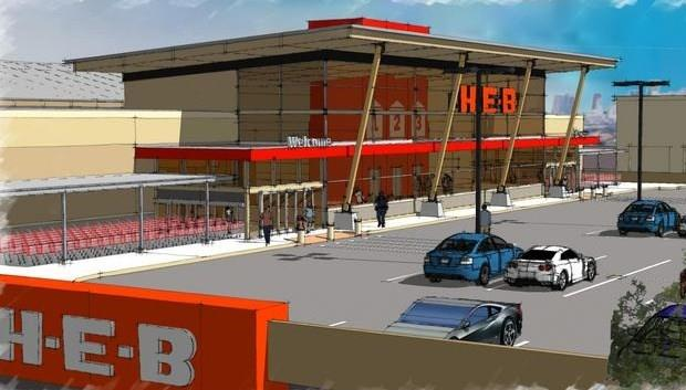 The new HEB, currently under construction, is located near the home.
