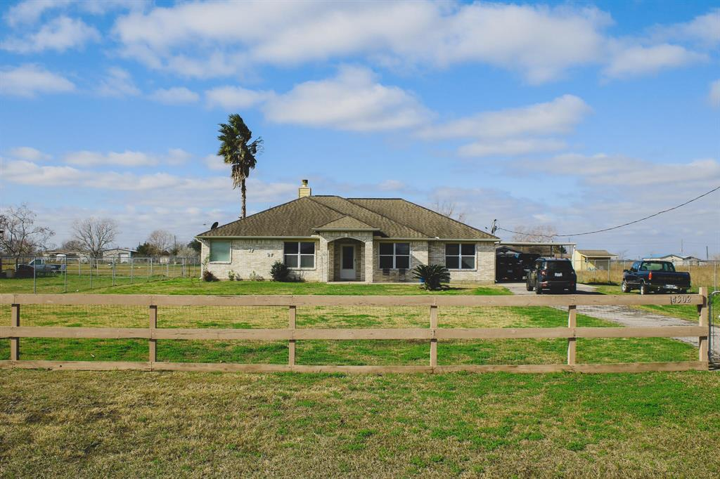 Country living only less than 30 minutes from Pearland and easy quick access to Hwy 288. Check out this beautiful ranch style  home  residing on over an  acre of land. This home, has was built in 2006 and has been very well maintained. No deed restrictions or HOA so you can use the property for varied purposes. If you are looking for country living, peace and quiet from city life , your new home is waiting for you.