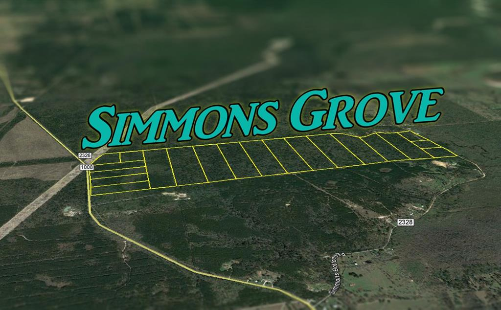 Tr 5; Simmons Grove is situated on the western uplands of the Trinity River Basin with native pines and hardwoods over sandy loam type soils. Located in the northeastern shadow of the Houston metro-plex, Simmons Grove is commutable and well accessible to Houston and/or the Houston Ship Channel, now, and with future expansion of the Grand Parkway. Electricity in place along road frontage of each tract. Sam Houston Electric Cooperative.