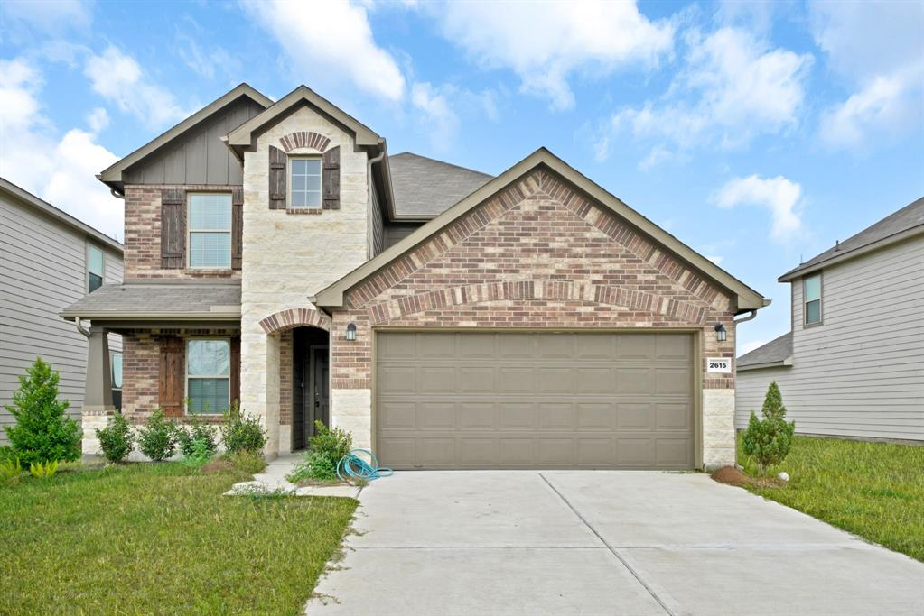 This gorgeous home features a stunning stone and brick front, it also boasts of a large master bedroom, 3 bedroom upstairs with bathroom. 4 bedrooms total 3 full  bathrooms. With an oversize covered back patio, a 2 car garage, this home truly is a piece of heaven Located just off the Fort Bend Parkway. Meadow Crest offers quick access to the Sam Houston Tollway and Highway 90. This convenient location is close to downtown Houston, Sugar Land, and the Texas Medical Center. Available for Immediate Move-In! Breakfast bar and granite  counter tops for cooking, baking or decorating. Marble counter tops in the bathrooms, walk in shower in the owner's bathroom.