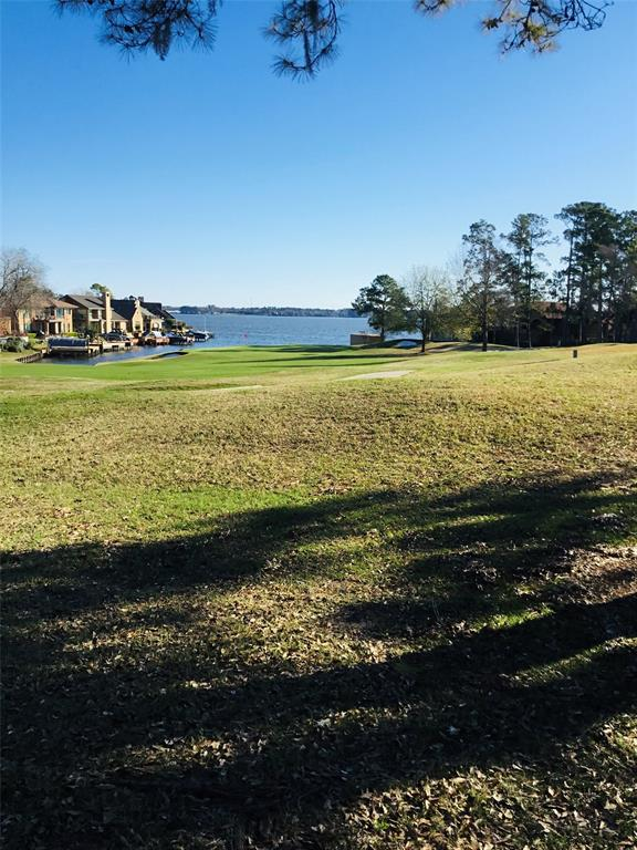 View From the Back of the Homesite Looking at The Green and Lake Conroe