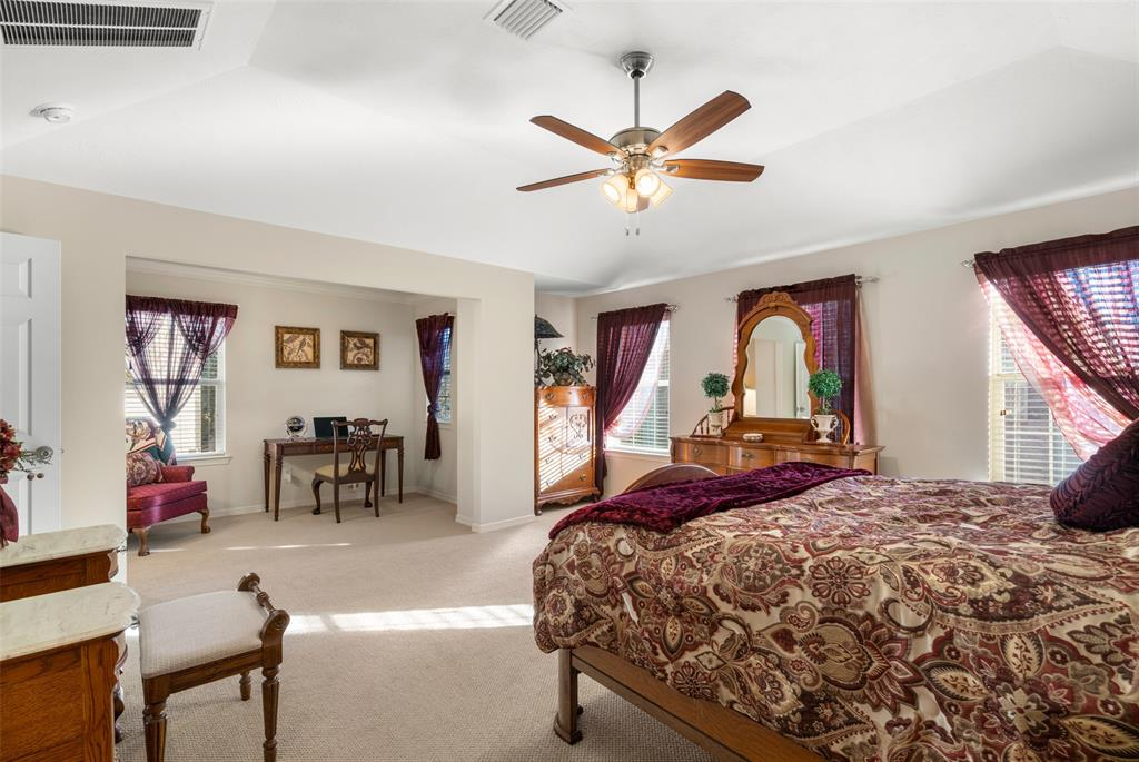 The master suite also features a study/exercise nook.
