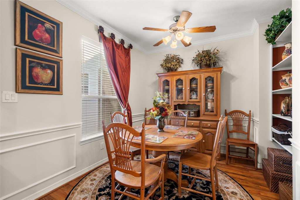 The breakfast space offers another flexible space for entertaining.