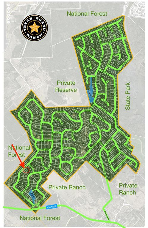 Texas Grand Ranch Map For Sale: 1 3 17 Texas Grand Road, Huntsville, TX 77340 | 2.455