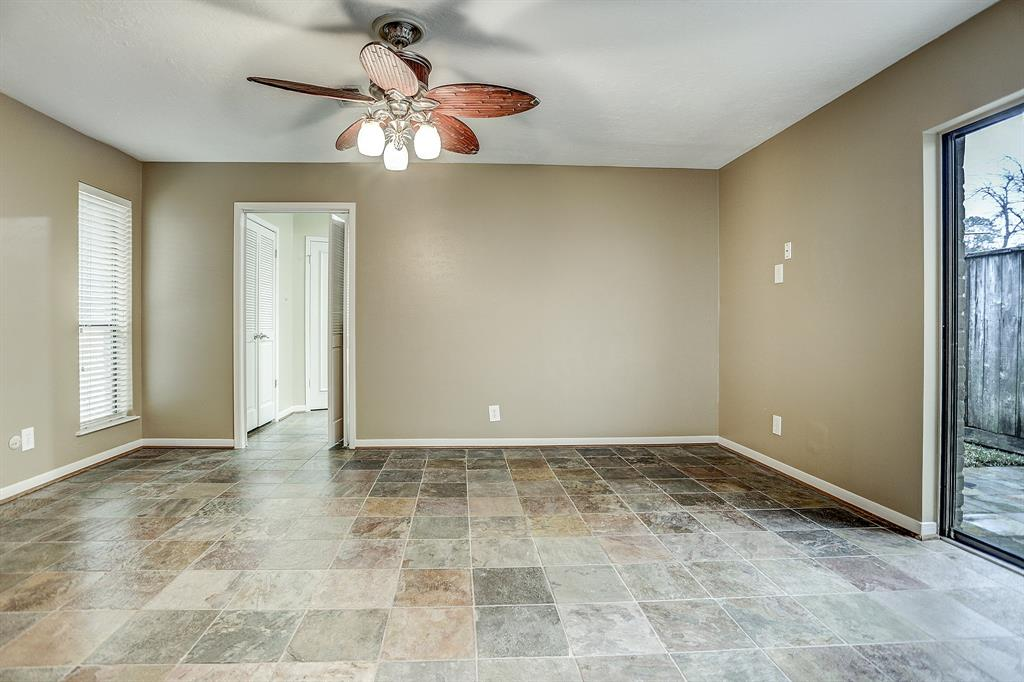 Master on first floor with patio access.
