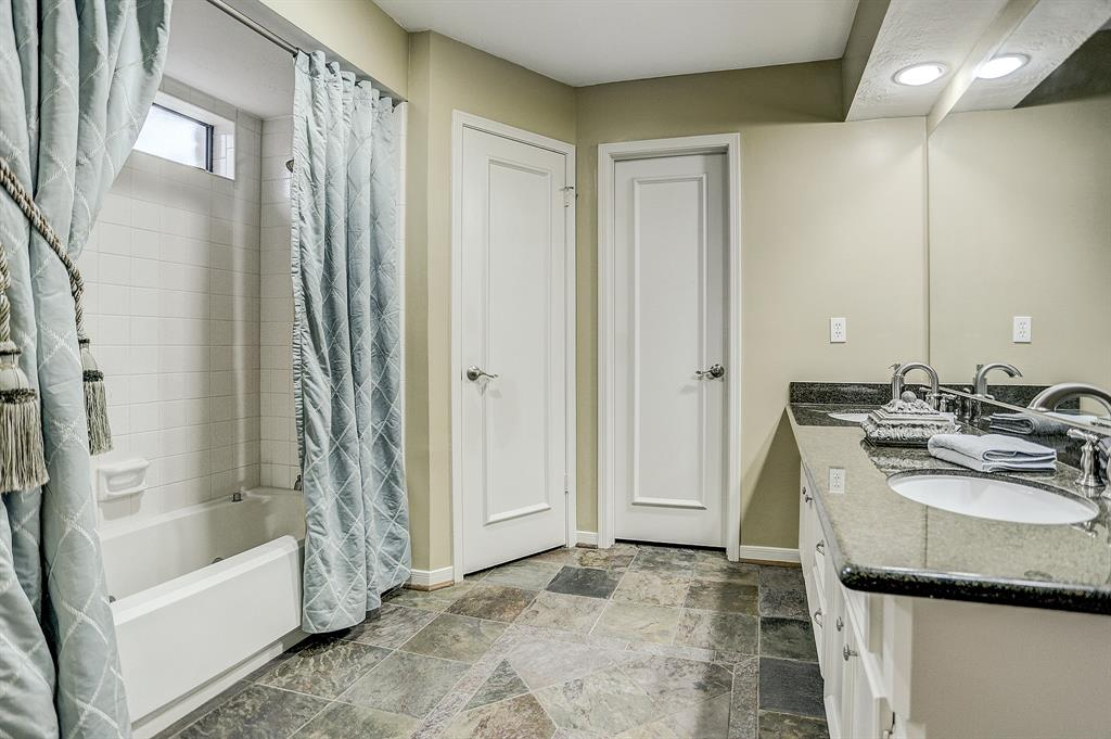 Master bath with double sinks and double closets!