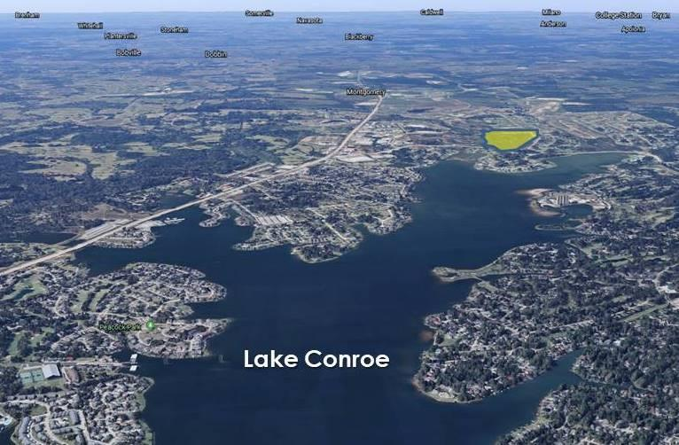 One of the last large parcels of land left for development on south side of Lake Conroe. 93.65 acres of unrestricted land. Will Subdivide. Ideal uses for: Single Family Community or High Density Multi-Family Residential Community or possible Pad Sites along Walden Road for retail or commercial. Prominent high-traffic corridor, 1500 ft of natural waterfront on Stewart Creek channel into Lake Conroe. Utility Easements allotted, Located in Montgomery County, Utility/Feasibility study already performed. Acreages on Walden Road with Lake Conroe waterfront access. Thriving Lake community with established residential and retail.  Complete tract available or subdivide. All utilities available thru Montgomery County Easement, Stewart Creek water channel runs back into Lake Conroe. See sales brochure attached for more details.