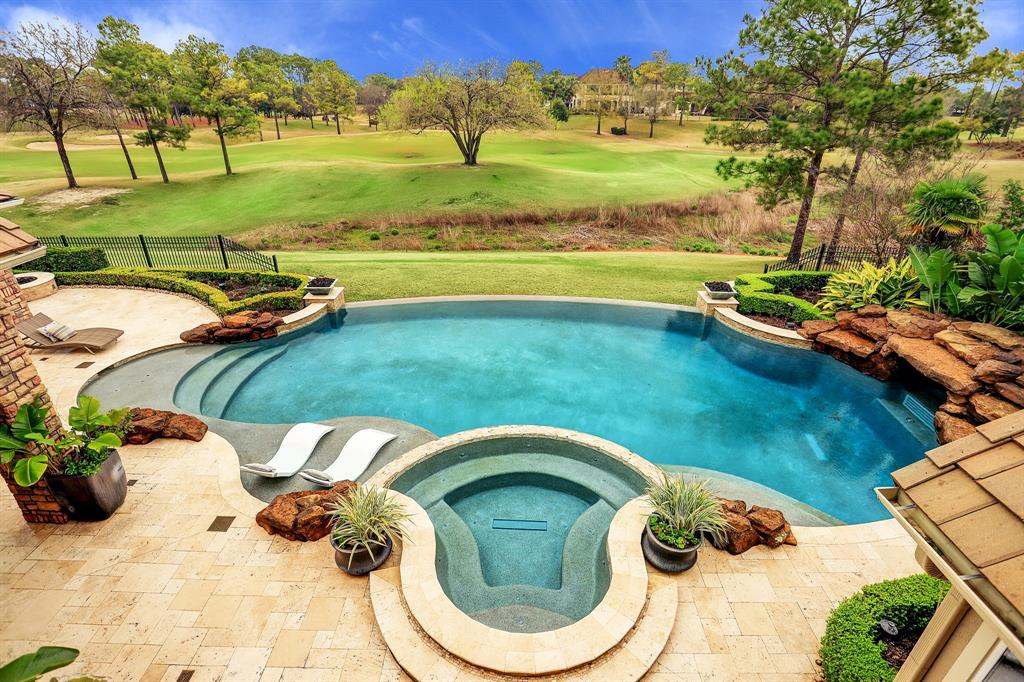 Immaculate CUSTOM Estate home situated on an expansive golf course lot overlooking the 9th fairway at Royal Oaks CC! Manicured grounds,private gated drive w/ motor court,elevated study w/ rich wood detail & privacy doors,Savant home automation system,LED lights thru out, large formal dining room w/ seating for 10+, formal living area w/ fireplace,wet bar,wine alcove,electric window shades, gorgeous gourmet kitchen w/ *recent commercial grade appliances, breakfast bar,abundance of storage, planning station, walk in pantry, sprawling Master retreat w/ sitting area,beautiful spa-like bathroom w/ dual vanities & generous walk in closet. Game/billiard rm up with balcony + a complete media room w/ refreshment bar,spacious secondary bedrooms,dual planning alcove, backyard oasis w/ salt water pool (heated & chilled) including swim system, spa,cabana w/ fire pit,summer kitchen @ loggia & great golf course views.Separate flex space w/ fireplace, plenty of privacy and stunning modern finishes!