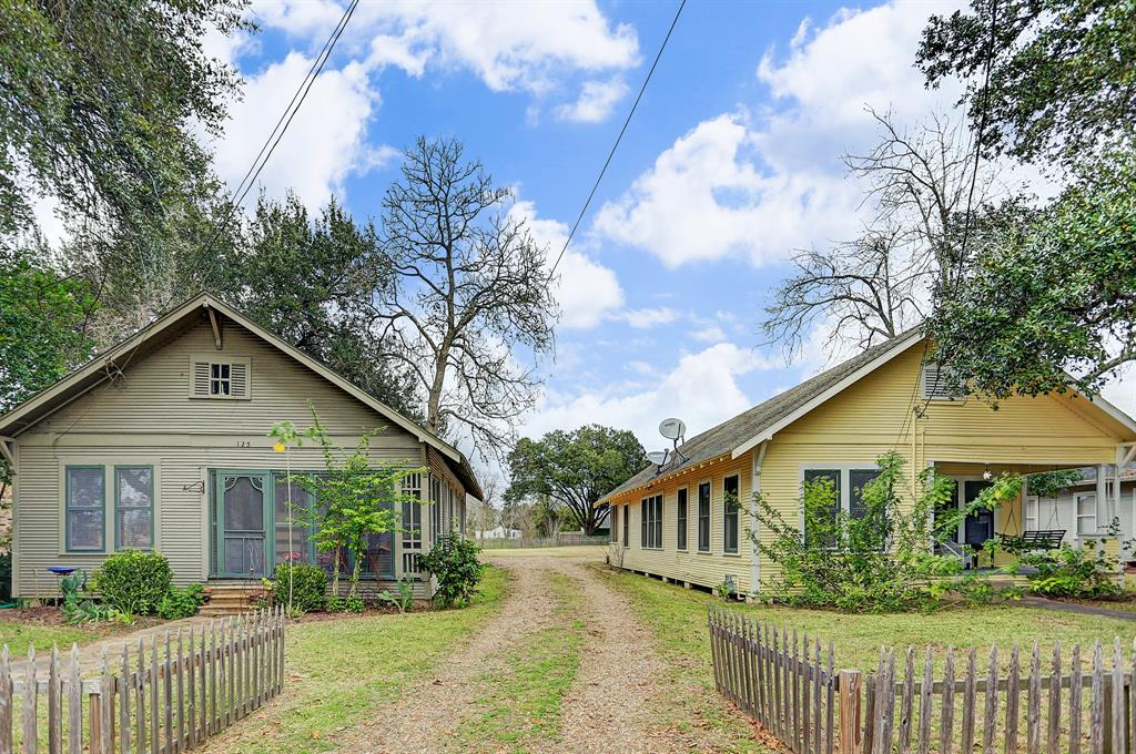 Two for one! This unique half acre lot boasts two 1920's/1930's homes just one block from the Wharton town square that is host to the historic county courthouse (1889). Homes both have new roofs, plumbing & electrical. These 2 properties 125 & 201 E. Caney, Tax Id's R26301 and R2630 are being sold together as 1 property. The list price is for BOTH properties. One hour from Houston, these two single family properties can be utilized as attorney offices, bed & breakfasts, or simply live in one and produce income from the other.  Both home have refinished original wood floors, screened porches, updated baths & charming kitchens. Just off the I-69 corridor, Wharton is a small town with a charming town square. The properties are just three blocks from Riverfront Park at the Colorado River. A terrific opportunity for an investment or a chance to live a quiet life with easy access to Houston, Richmond & Sugar Land. Never flooded per seller.