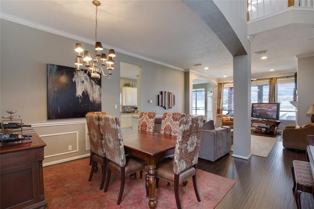 Formal dining is open to living area