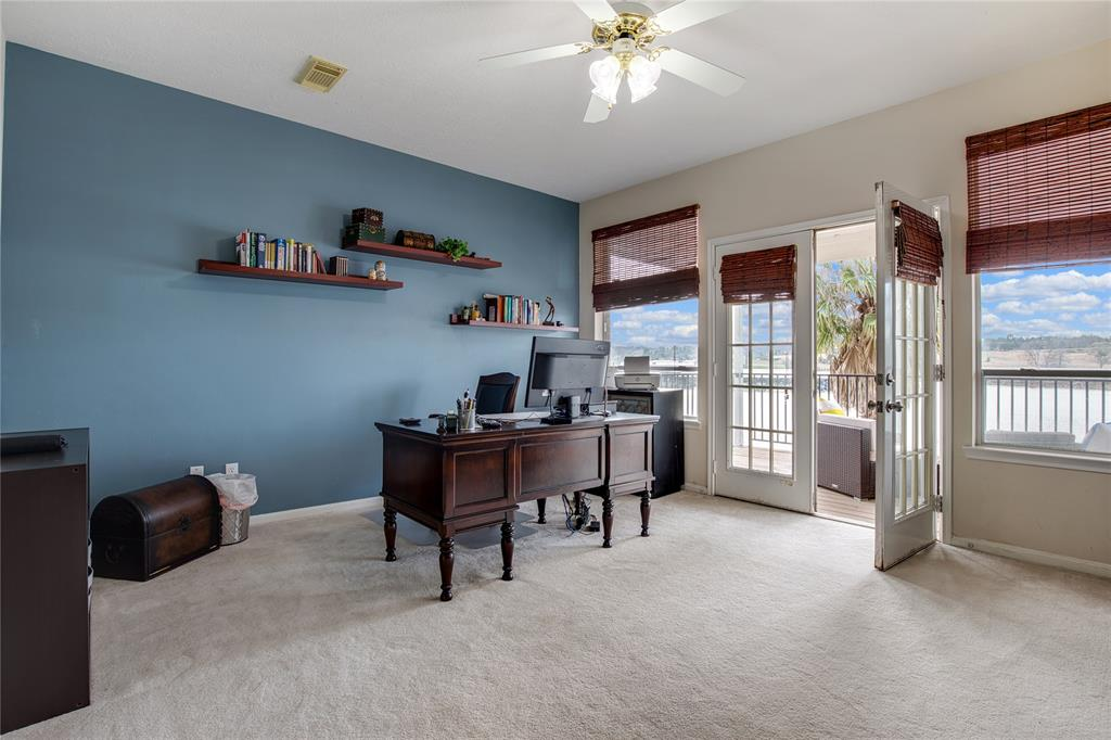 Study/Office/Gameroom opens to upper covered patio