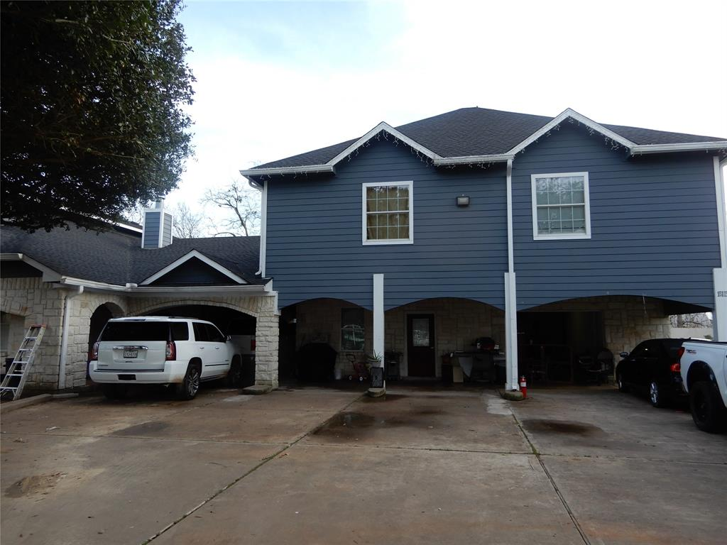 Take a look at this 2story Triplex with double stairs for easy access to 2nd floor.  It's a breathtaking, a 2002 built 5,617 sq.ft. (per seller). Comes w/2 other suites with their own kitchens. 1) Suite has 2beds and 2full baths and 2) Suite has one bed and 1full bath and 1/2 bath outside for when you have a big party.  Property has crown molding, island kitchen, granite counter tops and vanities, back splash in kitchen, ceiling fans and stainless steal appliances.  Large master with frameless glass door in shower.  Bottom of house is all stone with plenty of parking for a few cars, also has an automatic gate. No HOA restrictions.