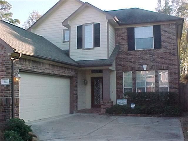 Location Location Take a look at all this home has to offer. Family room with hi-ceiling and fireplace, Kitchen and breakfast open to the family room. Covered patio with slate flooring. Home backs to a true natural reserve. All bedrooms up. Backyard fully fenced. Sprinkler system. Minutes from the Woodlands Mall. Refrigerator, washer and dryer included. Very peaceful and quiet.