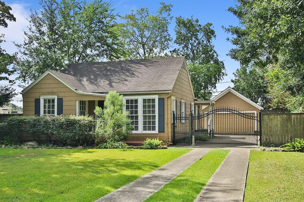 Live in now and build your dream home later!  The home has been well maintained over the years and features beautiful original  hardwoods.  This Garden Oaks bungalow is walking distance to new shopping, restaurants and bars and parks!