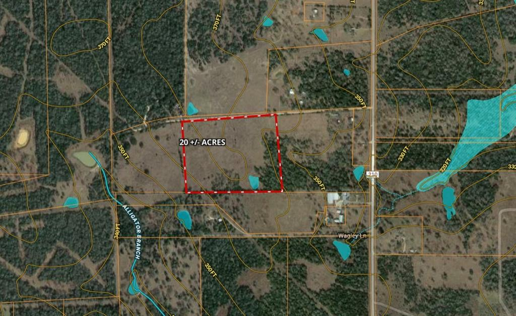 """20+/- acres on Wagley lane about 4 miles from IH-10 via CR 210. Partially wooded with nice pond and old water well. Land is currently in Ag valuation via a wildlife exemption. Soil is """"Straber loamy fine sand, 1 to 3 percent slope"""". No Restrictions. Mobiles allowed. Electric close by. Septic and Well needed. Nice place to have your new home."""