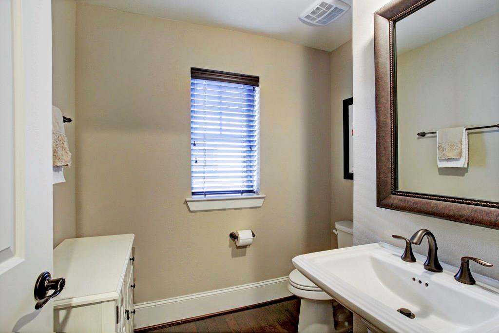 The all important half-bath located on the second floor! So very important for those parties and social gatherings!