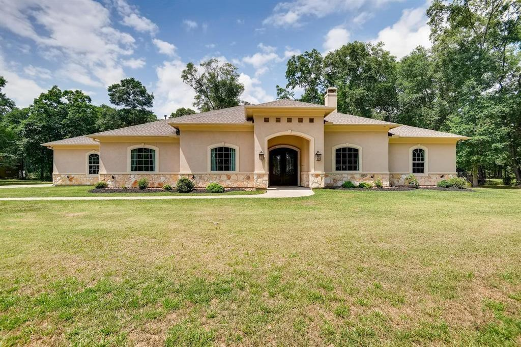Absolutely gorgeous 4,327 sq. ft. high end home on 5 acres in Riverwalk!  This home has 4 bedrooms and 4.5 bathrooms with a game room that could be used as an extra bedroom if needed.  There is a huge bonus/media room upstairs but all other living is downstairs. No expense was spared during the construction of this custom home.  Raised step ceilings, 8 foot doors and 8 inch baseboards throughout the house as well as custom built-ins. High end chef's kitchen boasts Viking stainless steel appliances and lots of countertop space for food preparation.  Large laundry room, energy efficient double pane windows, LED lighting and North/South exposure. Peaceful and serene setting with easy access to 99 and I69.
