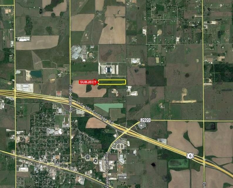 LOCATION! LOCATION! New development already in the area. This unrestricted 14 acres sits in an area ripe for development with close proximity to US 290 and adjoining WISD High School campus. Approximately 312 ft of road frontage on Stokes Rd. No Flood Plain! City water, sewer & Gas available. Wide entrance with culvert in place. 20 ft  strip along South line of subject and 20 ft strip along North line of adjoining property share a total of 40 ft strip easement for ingress/egress. (see exhibit). Adjoining property to the South is also for sale (MLS#9640613)