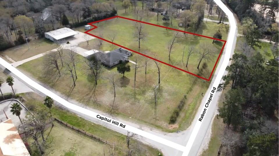 This property is located in Montgomery Co about 2 miles south of Lake Conroe a mile West of FM 2978/ McCaleb Rd.  The location is perfect for a small industrial company. Across the road, there's a large industrial company and just East of the property 3 tracts away is Hasara Land Services, a large landscaping & tree-cutting company.  There are multiple opportunities available here. The 1.5-acre tract is unrestricted so the highest and best use is a commercial development of some sort. This is ideal for a company that wants to build a small warehouse and still have additional land on which to park trucks or store equipment. There are no utilities to this tract.   An adjacent 0.564-acre corner tract is also for sale.  An adjacent 2,400 SF warehouse on 0.5 acre is also for lease with a brand new HVAC and new toilet in March. An adjacent 3/2.5/3 home on 0.66 acres is also for lease with a brand new roof and new HVAC in March. See images for details.