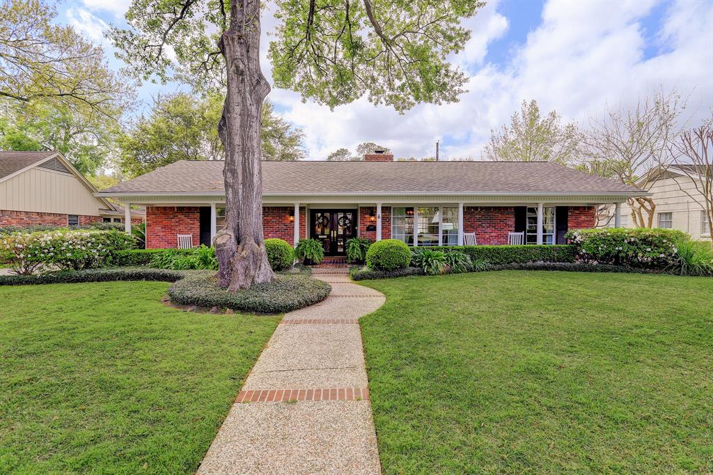The home is located on a quiet street in Tanglewood.