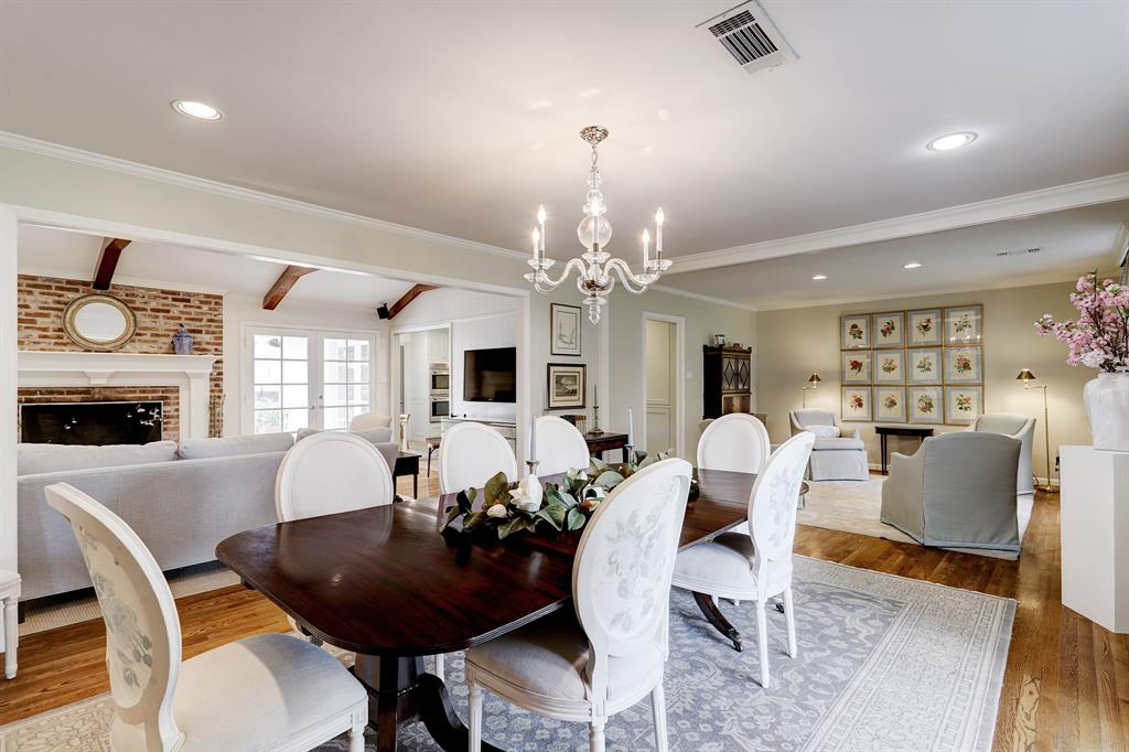 Wonderful open floor plan. Formal dining room opens up to the living room and sitting room.