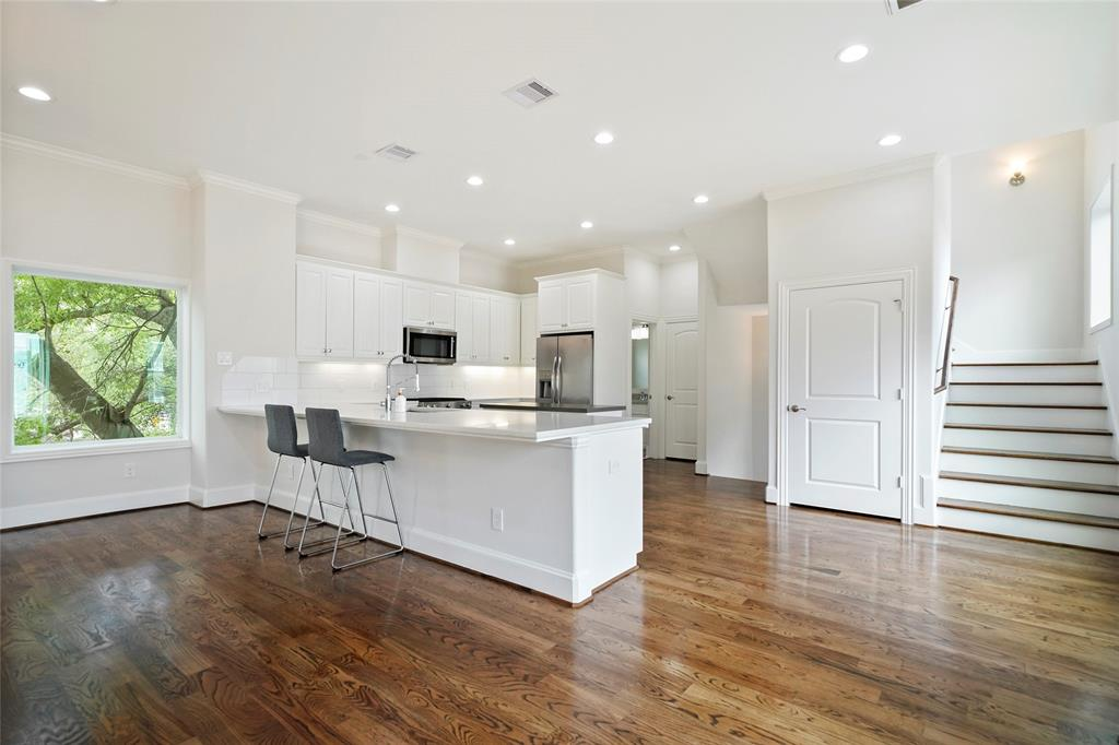 This open-concept space is great for entertaining family and friends.