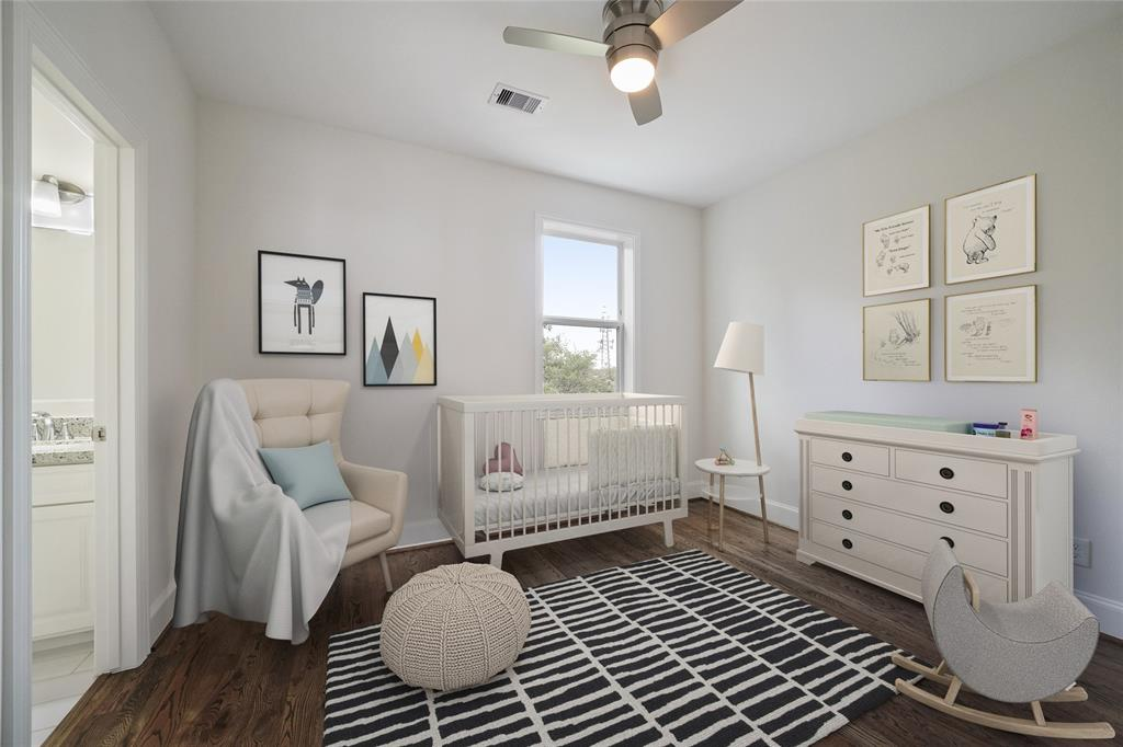 This bedroom is located on the same floor as the master bedroom. *furniture is virtually staged*