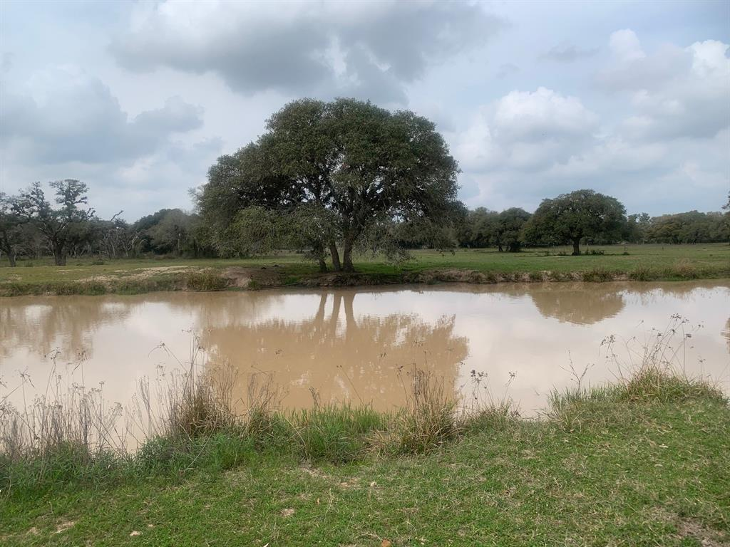 """NOT in the Flood Plain!  Did not Flood. Spend the day fishing on your own place!   The pond stretches out across the 8.855 AC. Peaceful!  Live oak trees surround the pond for a privacy screen from all around.  The perimeter is fenced on almost all sides with a current agricultural valuation.  This is the small tract that you have been looking for. Only 5 minutes away from gas and a gallon of milk;-) Land is accessible by way of the private road way to the south and private road """"Jessica Drive"""" to the north (pending completion)."""