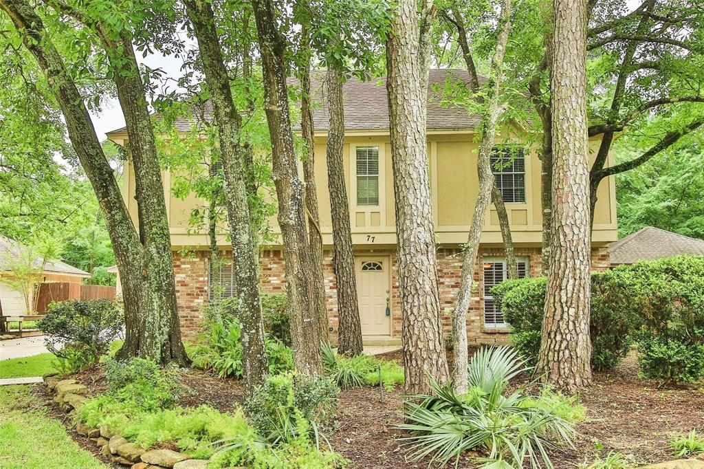 UPDATED 4 bedroom, two story home on quiet, greenbelt lot in Grogan's Mill.  Location offers quick access to I-45, Exxon camput, malls, parks and shopping.  Zoned to The Woodlands College Park High School.  Local and responsive landlords with a track record of satisfied tenants. UPDATES done in March 2020 include new light colored wood look tile throughout entire downstairs, painted white interior including newly painted kitchen cabinets and most of interior. New ktitchen tile backsplash.  New recessed lighting with LED bulbs. New, never used Whirlpool stainless steel side by side refrigerator, microwave, dishwasher and gas cooktop!  Brand new hot water heater.  Don't miss renting one of the best homes available.  All tenants must provide credit and background checks and proof of employment.  Pet allowed (some restrictions may apply).  Landlords are licensed real estate agents in TX