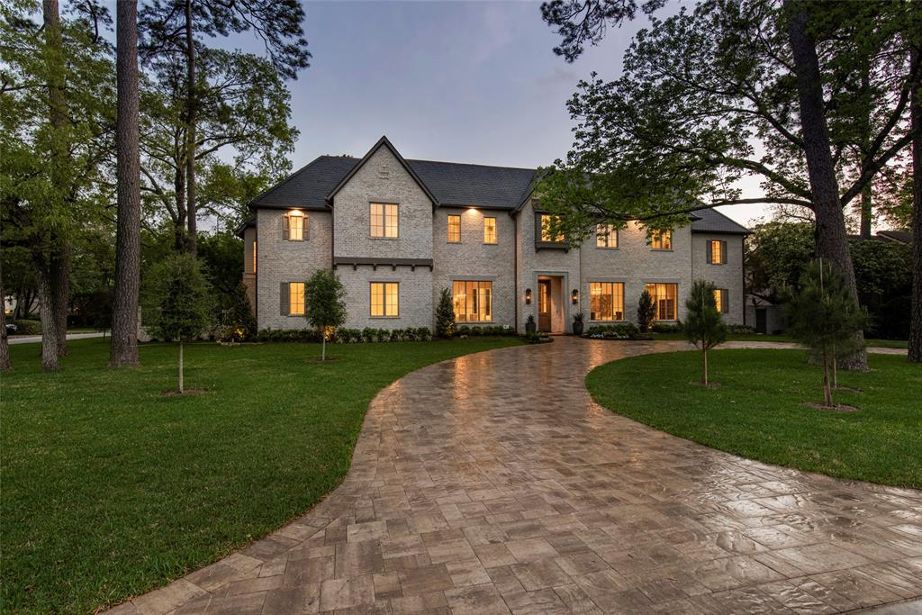 """A majestic European estate over 3/4 Village acre of manicure grounds and legacy trees (lot+ 6,848 Sf of ROW=31,529 sf). This masterfully crafted new construction by award-winning Montecito Builders reflects timeless design and hand-sourced craftsmanship. 1st floor w/ fully plastered walls and ceilings (12' high). Grand library w/custom cabinetry, stone covered island and wet bar; Great room with 13'6""""ceilng, cypress beams & custom limestone fireplace mantel. Indoor/outdoor sun room with Nana Wall folding system.Huge Kt & BK room. 2 luxurious master suites, 2 utility rooms, 3 powder rooms, 3 bars, 4 staircases, 17 pairs of music speakers, lutron light control system. Luxurious 2 story ladies' Retreat with champagne bar, mirror front wardrobes, hair& make up stations. 81+ ft of """"Art Gallery"""" w/14'ceiling, cypress beams and plastered walls. Large hobby room, elevator to all 3 floors. 42' heated pool and spa, generator, custom metal pergola, spacious backyard, 5 car garage+1 extra pkg."""