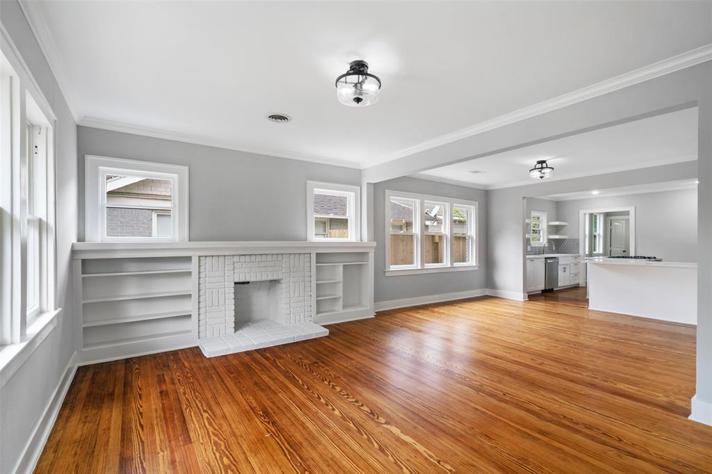 The professionally designed layout and finishes fit the modern lifestyle. The living space features refinished original wood floors, crown molding and lots of natural light.