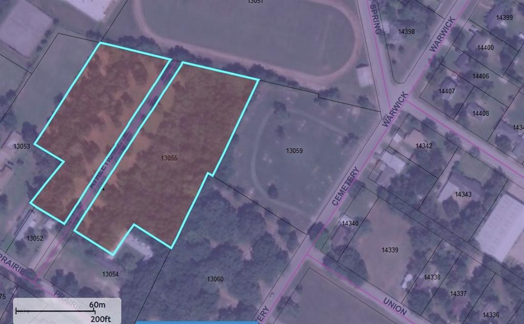Rare opportunity to purchase small acreage / 16 individual lots (per CCCAD) in the heart of Eagle Lake. Prime for development (double check with city for zoning as it is always changing). Private dead end road. Public water and sewer available. Nice mature trees. Paved road access.
