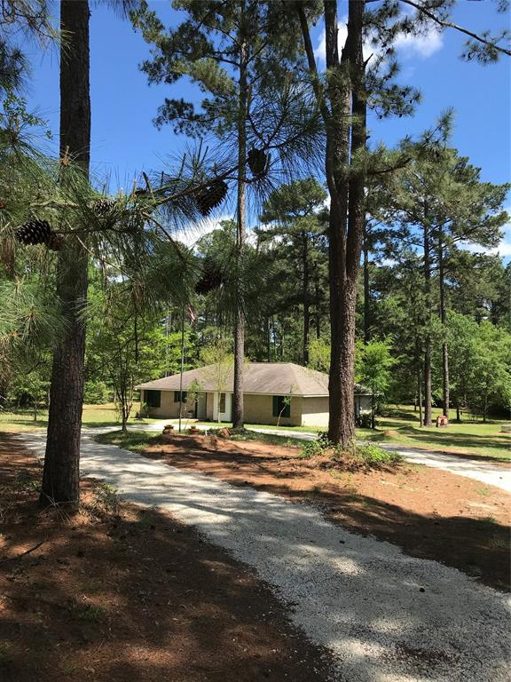 PRIME LOCATION, Quick access to College Station, Conroe & Houston. Fresh updates throughout 3/2 Solid brick home, PRICED TO SELL, 6 unrestricted acres:new HVAC, Upgraded countertops, paint & MORE. PHENOMENAL KITCHEN, 2 pantries, wine rack & cabinets galore, a cooks dream. Opens to huge living w/ fireplace & dining room. Extra Lg laundry, tons of storage, opens to Lg covered back patio & fire pit in backyard, perfect entertaining  Big master w/ huge closet,  French doors to patio, newly redone master onsuite, 2 large secondary bedrooms w/ big closets. Lg storage shed. Raise Bees for Ag exemp. Come let go of stress & noise, sit & relax under the trees in your serene retreat away from it all.