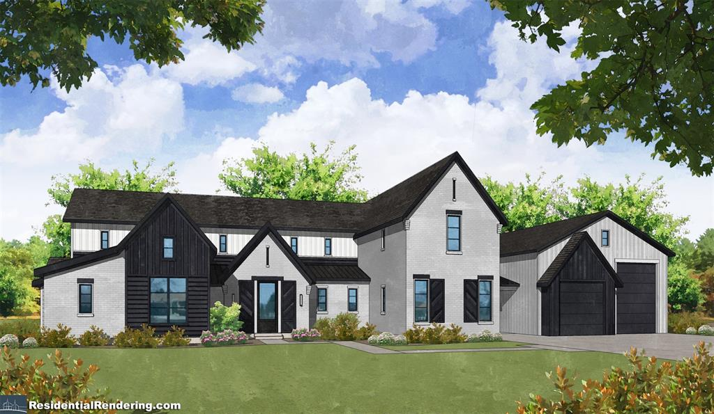 Jordan Jackson Homes has built homes all around Houston. They have brought you this beautiful rendering in the heart of Tomball.  This gorgeous home will sit on 2 acres and has 5 beds, 5.5 baths, oversized 2 car garage, butlers pantry, and outdoor living and kitchen. Attached through the porte cochere is a 30x50 garage/shop with a mud room and bathroom. Options for personal customization are available.