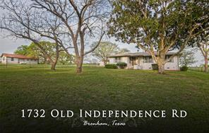 1732 Old Independence Road, Brenham, TX 77833