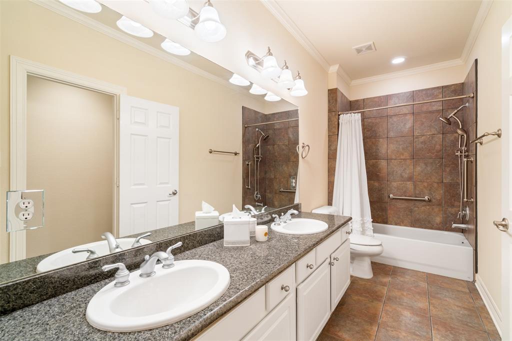 Full bath # 2 with dual vanities.