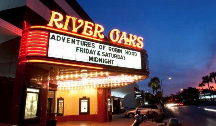 Enjoy a movie at the Historic River Oaks Theater.