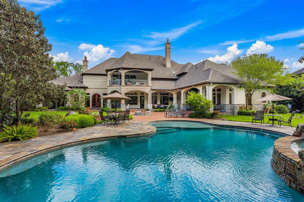 This masterfully designed property on 1.5 acres, in the beautifully scenic and prestigious Shiloh Lake Estates, transcends all expectations. This beautiful custom home of over 7700 square feet exudes luxury and timeless sophistication. Structure and land are harmoniously balanced to create exquisite privacy and tranquility. Grandiose enough to entertain on a large scale, its picturesque setting is also unmatched for even the most intimate of gatherings. This spectacular home and the stunning setting are made even more desirable by it's close proximity to Black Hawk Country Club & Golf Course, acclaimed restaurants, shops, award-winning schools and easy access to major highways (5 mins. to 99, 10 mins. to WP Toll, 15 mins. to 59/69). Black Hawk Country Club & Golf Course is recognized as one of the area's finest country clubs. Featuring a pristine golf course, a full-sized luxury spa and exceptional dining. The home features quarters with a living area, kitchen, bedroom and bathroom.
